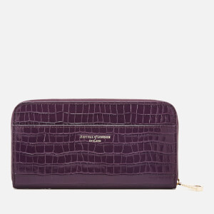 Aspinal of London Women's Continental Clutch Wallet - Amethyst