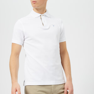 Barbour Men's Tartan Pique Polo Shirt - White