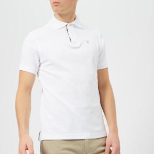 Barbour Men's Tartan Piqué Polo Shirt - White/Dress