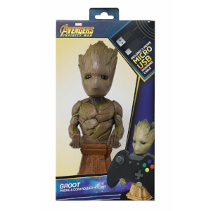 Figurine Support Chargeur Manette 20 cm Groot - Marvel