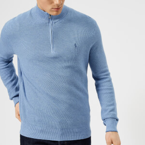 Polo Ralph Lauren Men's Pima Cotton Half Zip Sweater - Blue