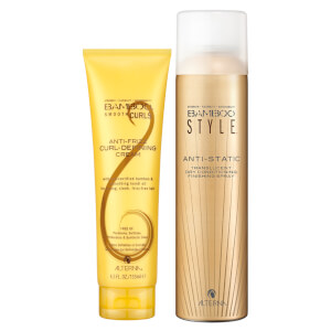 Alterna Bamboo Style Dry Finishing Spray and Curl Defining Cream Duo
