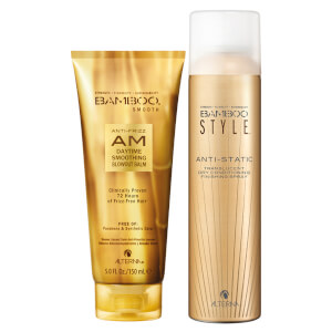 Alterna Bamboo Style Dry Finishing Spray and AM Daytime Smoothing Blowoout Balm Duo
