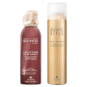 Alterna Bamboo Style Dry Finishing Spray and Volume Uplifting Hairspray Duo
