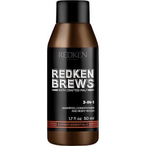 Redken Brews Men's 3 In 1 Shampoo 50ml (Free Gift)