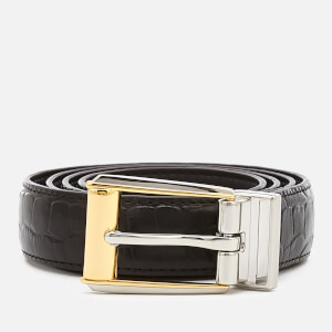 Lauren Ralph Lauren Women's 3/4 Reversible Skinny Belt - Black