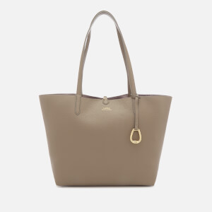 Lauren Ralph Lauren Women's Merrimack Reversible Medium Tote Bag - Taupe/Gunmetal