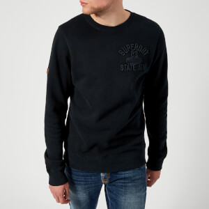 Superdry Men's Applique Crew Neck Sweatshirt - Eclipse Navy