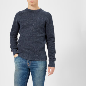 Superdry Men's Orange Label Crew Sweatshirt - Ravine Blue Grit