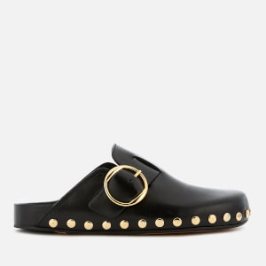 Isabel Marant Women's Mirvin Studded Leather Mules - Black/Dore