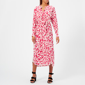 Isabel Marant Women's Calypso Printed Silk Dress - Pink Drop