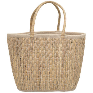 Bloomingville Seagrass Basket With Handles - Nature