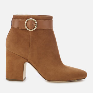 MICHAEL MICHAEL KORS Women's Alana Suede Heeled Ankle Boots - Acorn