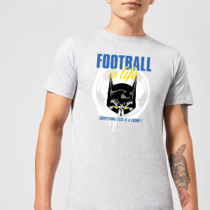 T-Shirt DC Comics Batman Football Is Life - Grigio