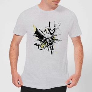 DC Comics Batman Batface Splash T-Shirt - Grey
