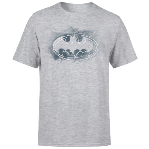 DC Comics Batman Spray Logo T-Shirt - Grey