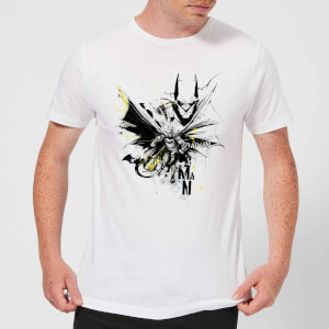 DC Comics Batman Batface Splash T-Shirt - White