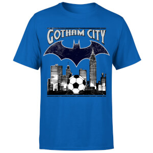 T-Shirt Homme Batman DC Comics - Football Gotham City - Bleu Roi