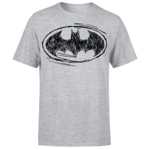DC Comics Batman Sketch Logo T-Shirt - Grey