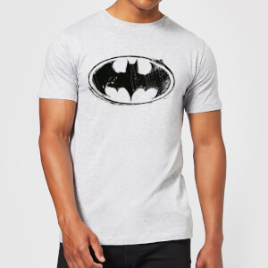 T-Shirt DC Comics Batman Sketch Logo - Grigio