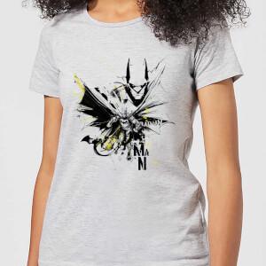 DC Comics Batman Batface Splash Women's T-Shirt - Grey