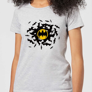 DC Comics Batman Bat Swirl Women's T-Shirt - Grey