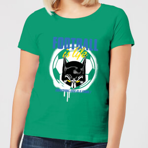 DC Comics Batman Football Is Life Women's T-Shirt - Kelly Green