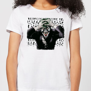 T-Shirt DC Comics Batman Killing Joker HaHaHa - Bianco - Donna