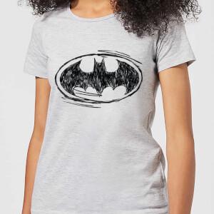 T-Shirt Femme Batman DC Comics - Croquis Logo - Gris