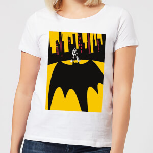 DC Comics Batman Bat Shadow Women's T-Shirt - White