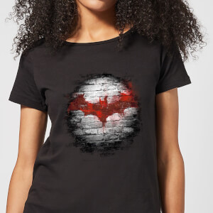 DC Comics Batman Logo Wall Women's T-Shirt - Black