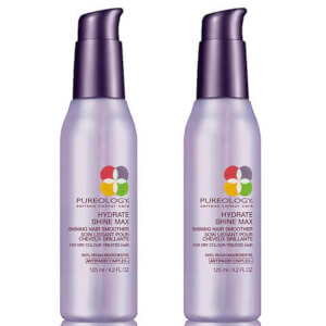 Duo de Sérums Lissants Légers Shine Max Hydrate Pureology 125 ml
