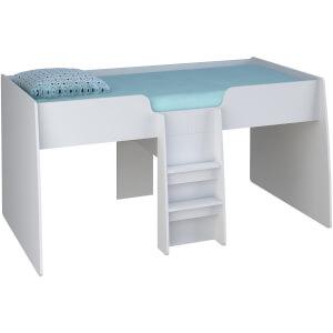 Kidsaw Loft Station Cabin Bed Frame White