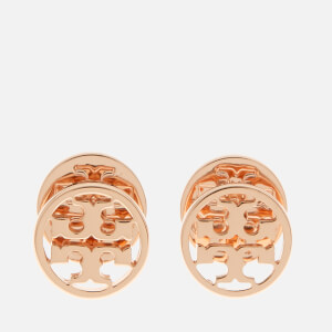 Tory Burch Women's Logo Circle Stud Earrings - Rose Gold