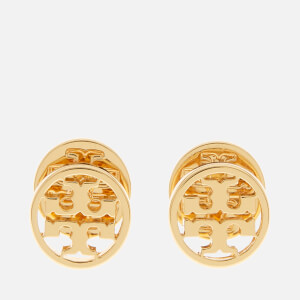 Tory Burch Women's Logo Circle Stud Earrings - Gold