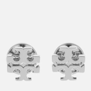 Tory Burch Women's Logo Stud Earrings - Silver