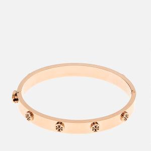Tory Burch Women's Logo Stud Hinge Bracelet - Rose Gold