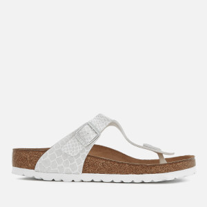 Birkenstock Women's Gizeh Toe Post Sandals - Magic Snake White