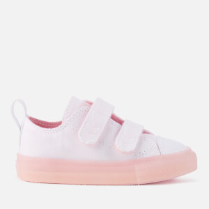 Converse Toddlers' Chuck Taylor All Star 2V Ox Trainers - White/Cherry Blossom