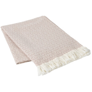 Broste Copenhagen Tia Cotton Throw - Canyon Rose