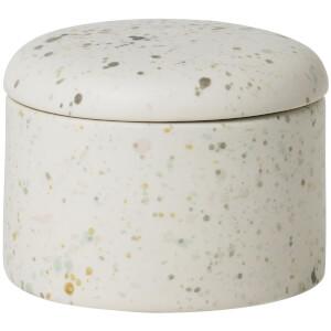 Broste Copenhagen Terraz Ceramic Deco Box - Ivory