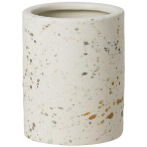 Broste Copenhagen Terraz Small Ceramic Vase - Ivory