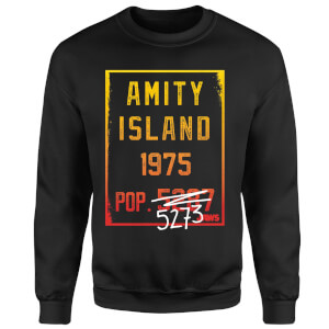 Sweat Homme Les Dents de la mer - Population d'Amity - Noir