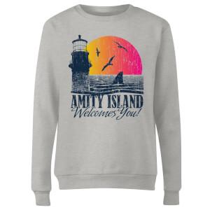 Jaws Welcome To Amity Island Women's Sweatshirt - Grey