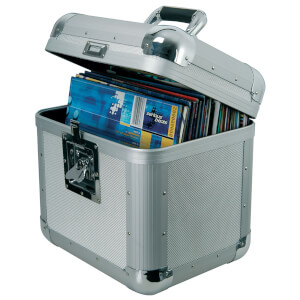 Citronic Aluminium 80 x 12 Inch Vinyl Record Flight Case - Silver