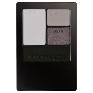 Maybelline Expertwear Quad Eye Shadow - 04 Charcoal Smokes 4.8g