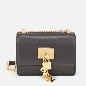 DKNY Women's Elissa Flap Cross Body Bag - Black/Gold