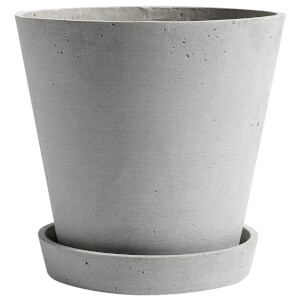 HAY Flowerpot with Saucer - Extra Large - Grey
