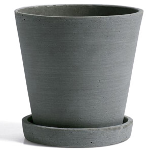 HAY Flowerpot with Saucer - Medium - Green