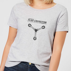 Back to the Future Powered By Flux Capacitor Dames T-shirt - Grijs